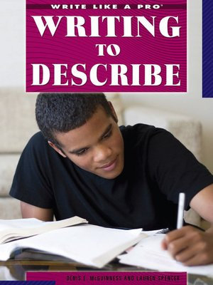 cover image of Writing to Describe